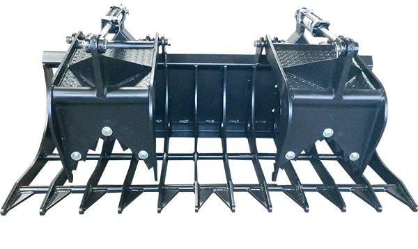 "Grapple Bucket with Double Grippers - 72"" wide"
